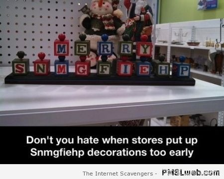 Funny Christmas shop decorations at PMSLweb.com