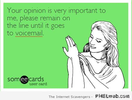 Your opinion is very important ecard – Sarcastic funnies at PMSLweb.com