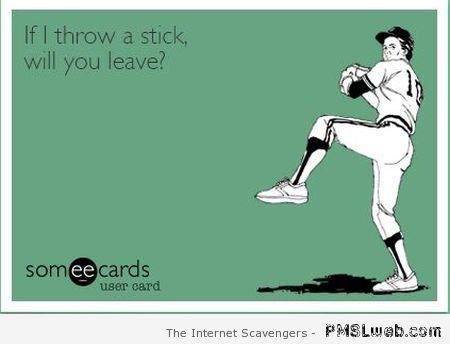If I throw a stick sarcastic humor at PMSLweb.com