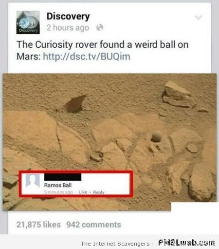 Ramos ball found on Mars at PMSLweb.com