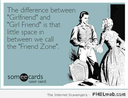 The difference between girlfriend and girl friend ecard at PMSLweb.com