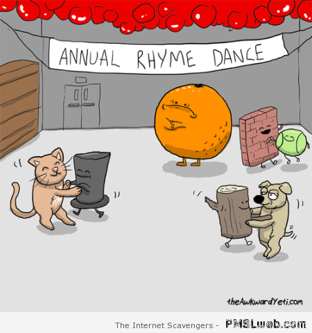 Annual rhyme dance cartoon at PMSLweb.com