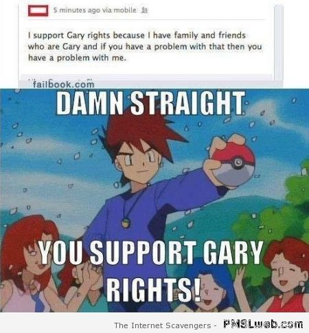 I support gay rights fail – Weekend giggles at PMSLweb.com