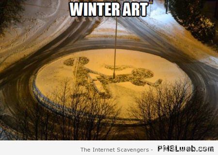 Funny winter art meme at PMSLweb.com