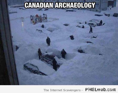 Canadian archaeology meme at PMSLweb.com
