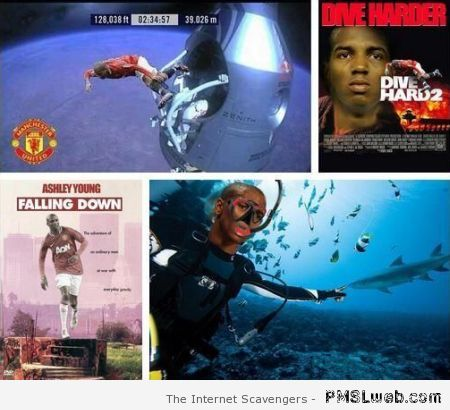 Funny Ashley Young diving at PMSLweb.com