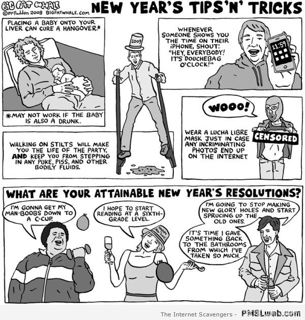 Funny new year tips at PMSLweb.com