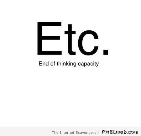 Funny definition of etc at PMSLweb.com