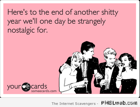 Sarcastic New Year ecard at PMSLweb.com