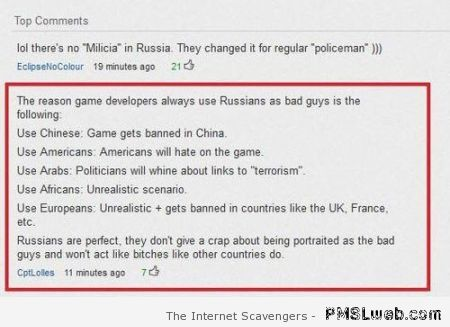 Why Russians are bad guys in video games humor at PMSLweb.com