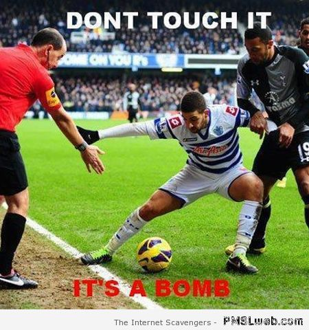 It's a bomb football meme at PMSLweb.com