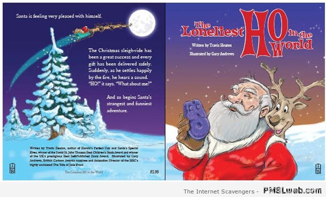 Funny Santa book cover at PMSLweb.com