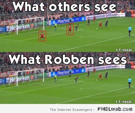 What Robben sees – Funny Football pictures at PMSLweb.com