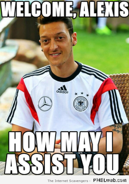 Ozil football meme at PMSLweb.com