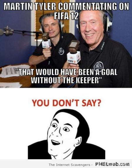 Funny Martin Tyler comment at PMSLweb.com