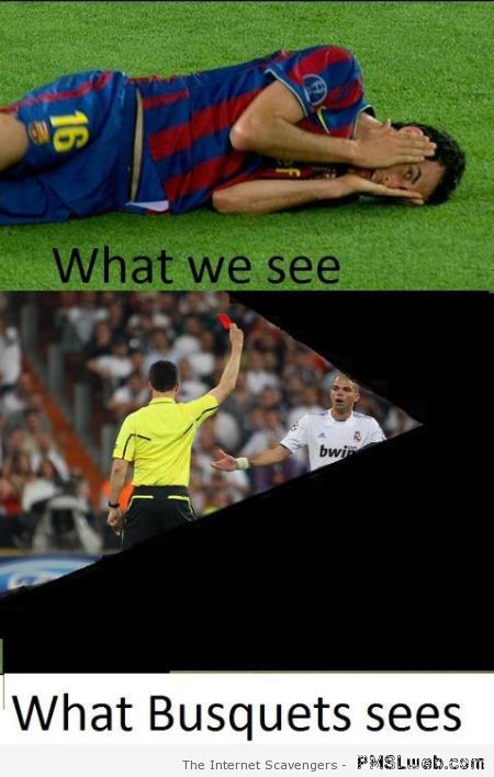 What Busquets sees – Funny Football pictures at PMSLweb.com