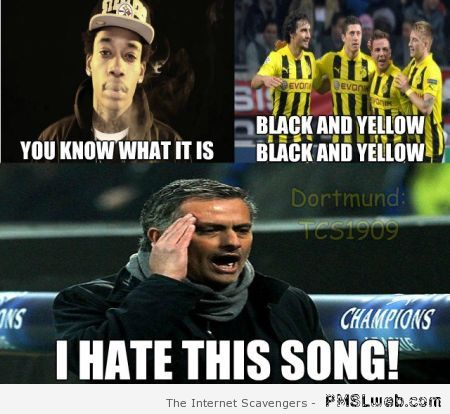 Black and yellow funny football meme at PMSLweb.com