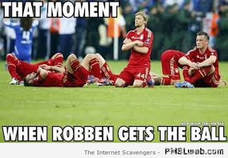 When Robben gets the ball meme at PMSLweb.com