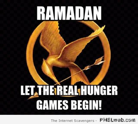 Ramadan hunger games meme at PMSLweb.com