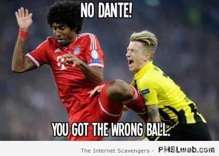 Wrong ball Dante football meme at PMSLweb.com