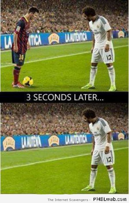Messi vs Marcelo – Funny Football pictures at PMSLweb.com