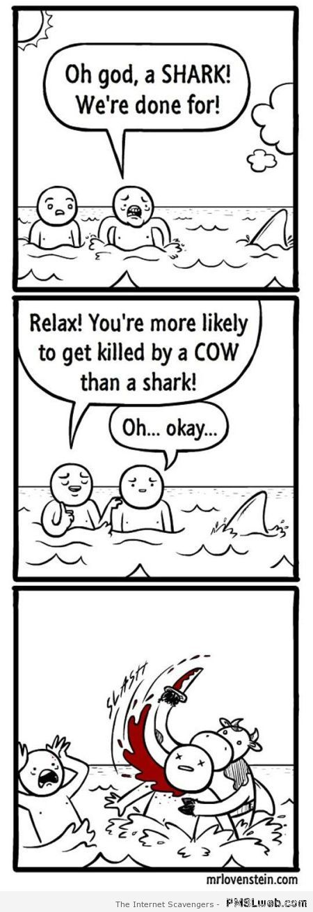 Funny shark cartoon – Sarcastic funnies at PMSLweb.com