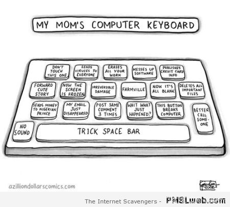Mom's computer keyboard – Funny Wednesday at PMSLweb.com