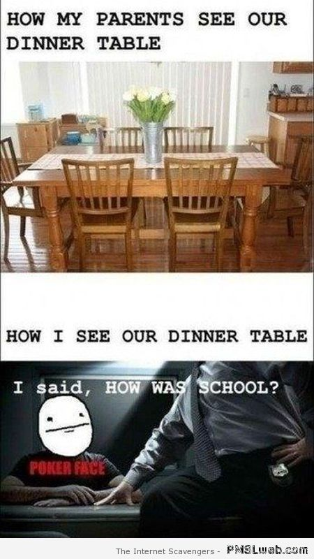How I see our dinner table – Friday funnies at PMSLweb.com