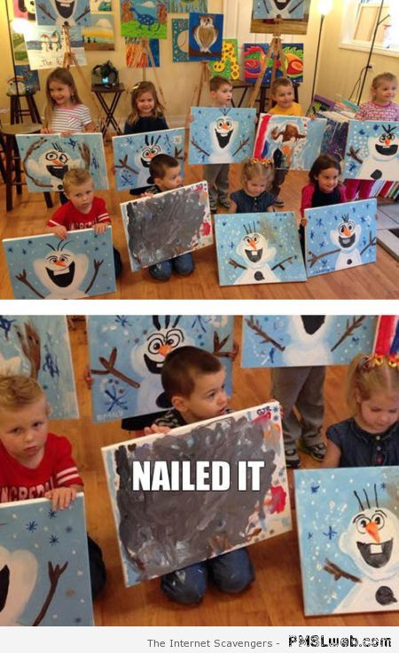 Kid's painting nailed it at PMSLweb.com