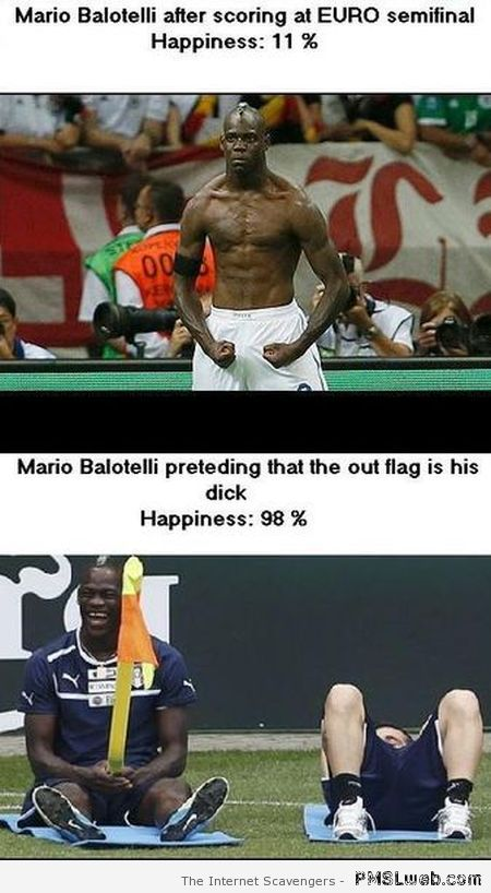 When is balotelli happy – Funny Football pictures at PMSLweb.com