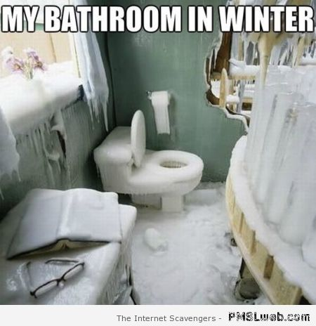 My bathroom in winter meme at PMSLweb.com