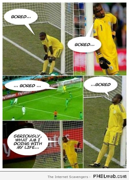 Vincent Enyeama is bored funny at PMSLweb.com