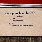 Do you live here funny door mat? At PMSLweb.com