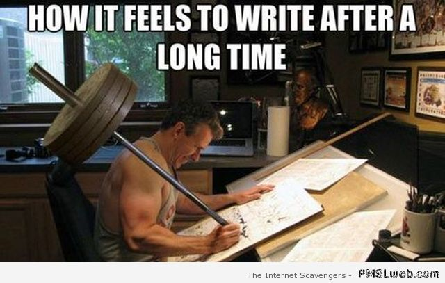 How it feels to write after a long time at PMSLweb.com
