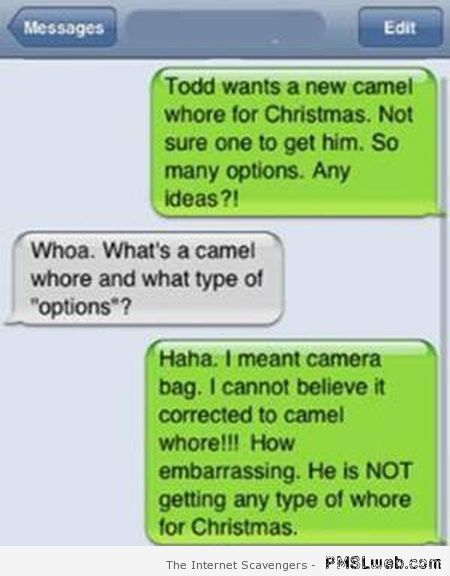 Camel autocorrect fail – Funniest autocorrects at PMSLweb.com