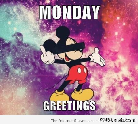 Funny Disney Monday greetings – Sarcastic Monday at PMSLweb.com