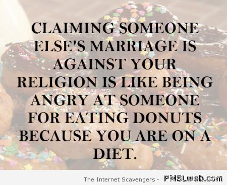 Religion and donuts quote at PMSLweb.com