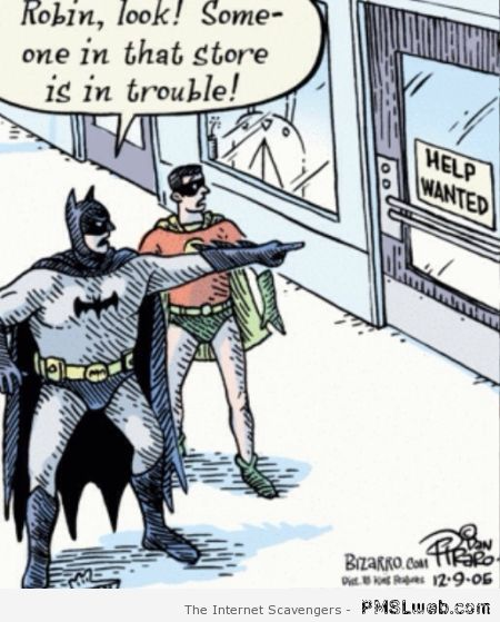 Store is in trouble Batman cartoon at PMSLweb.com