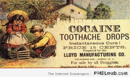Cocaine toothache drops vintage at PMSLweb.com