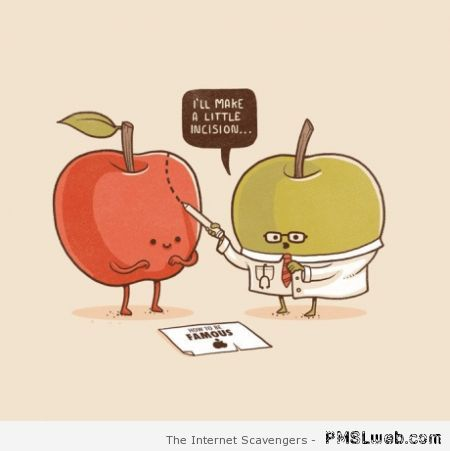 Funny Apple cartoon at PMSLweb.com