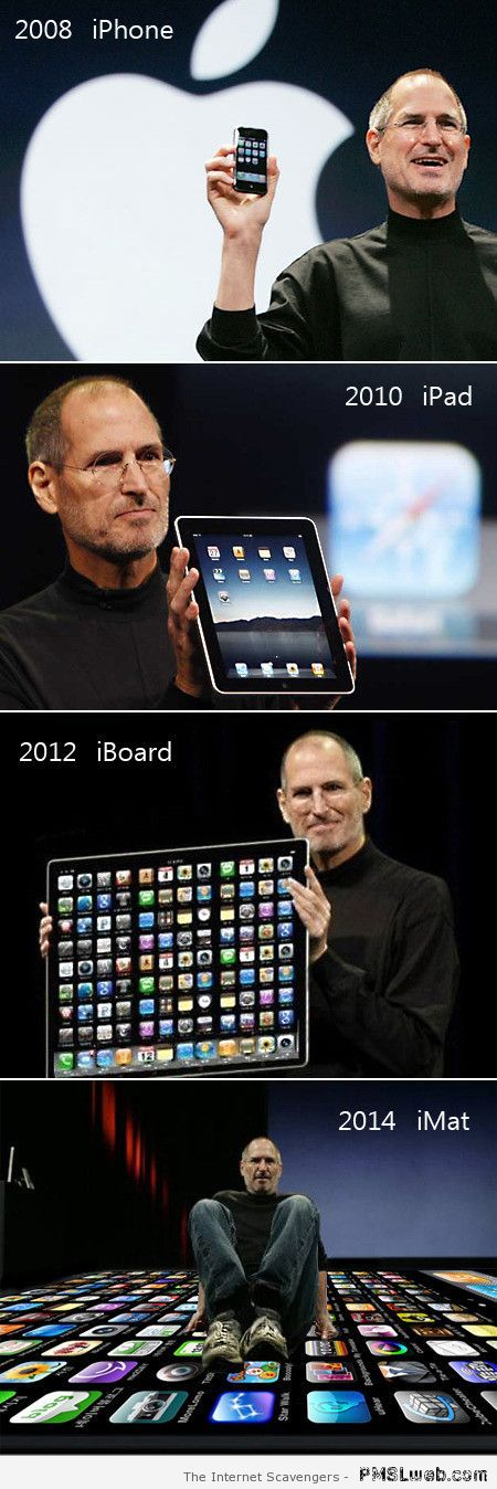Funny Apple products evolution humor at PMSLweb.com