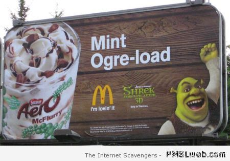 Shrek mint overload humor at PMSLweb.com