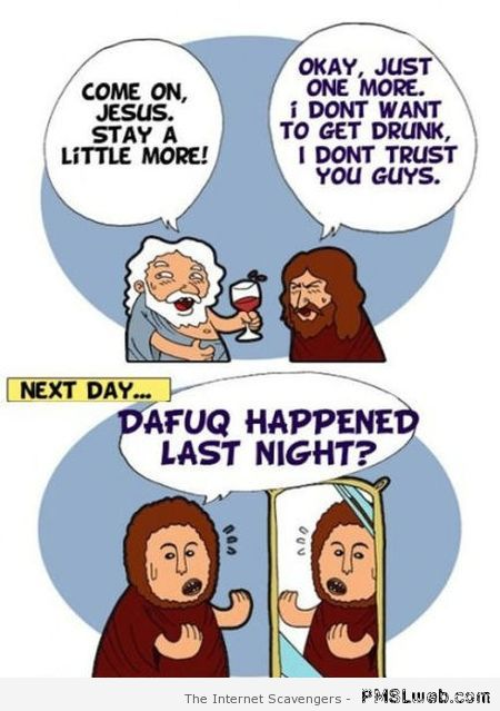 Funny Jesus cartoon at PMSLweb.com