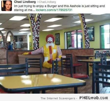 Funny Mc Donald tweet at PMSLweb.com
