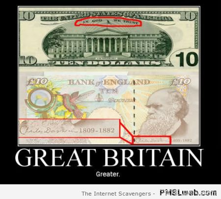 Great Britain bank note demotivational at PMSLweb.com