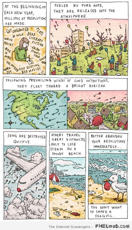 Don't take resolutions funny at PMSLweb.com