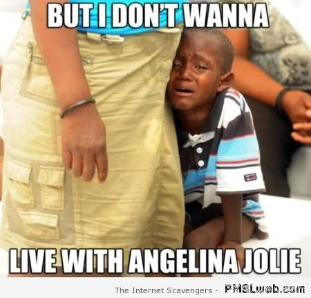 I don't want to live with Angelina Jolie meme at PMSLweb.com