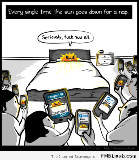 When the sun goes down cartoon at PMSLweb.com