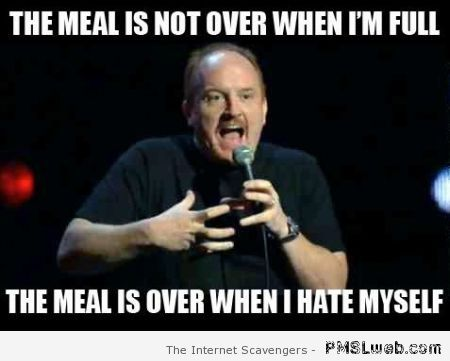 The meal is not over meme at PMSLweb.com