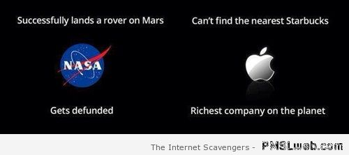 Nasa versus Apple humor at PMSLweb.com